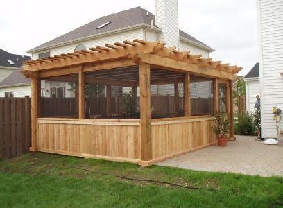 Enclosed Pergola Pergola Backyard Cedar Pergola