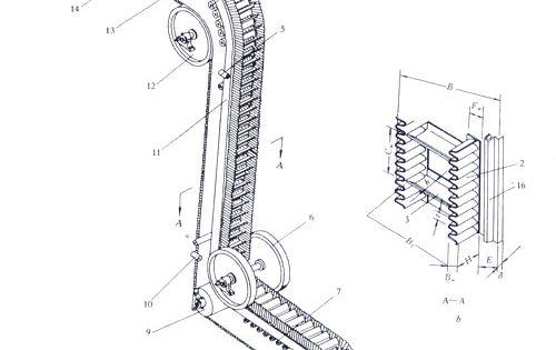 belt conveyor  three horizontal sections of large angle