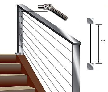 500 M Series Cable Railing Kits For Pitched Or Stair Runs In Metal Posts These Are A Simple Diy Instal Cable Stair Railing Cable Railing Systems Cable Railing