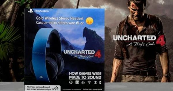 Headphone Uncharted 4 سماعة Headset Uncharted Book Cover