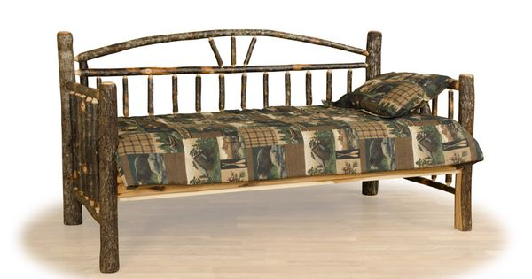 Log Trundle Bed Rustic Day Bed Cabin Furniture Lodge Style Woodland Creek Furniture