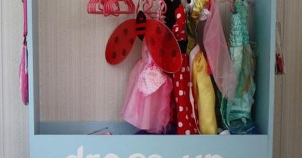 Playroom ideas. Costume station. Dress up storage. Toy Storage Organization