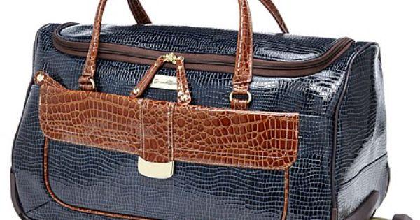 Samantha Brown Luggage Qvc: Samantha Brown First Class Wheeled Weekender