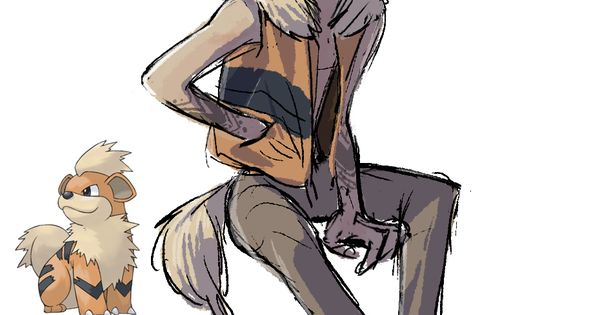 58 Growlithe Humanized Gijinka Pokemon Series By Tamtamdi On Tumblr Pokemon Art
