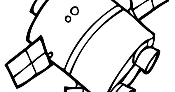 small space satellite coloring pages for kids