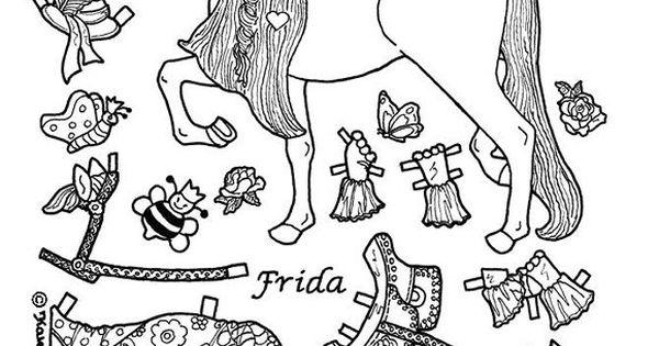 princess pony paper doll coloring page coloring pages pinterest udklip dukker og maleb ger. Black Bedroom Furniture Sets. Home Design Ideas