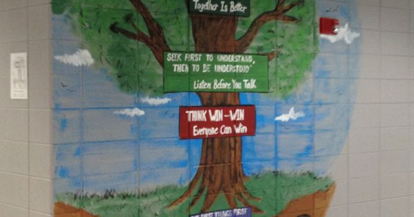 7 habits tree at carbon hill elementary junior high school for 7 habits tree mural