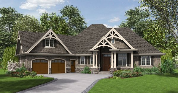 3 bedrooms plus office single story with bonus room above for One story house plans with bonus room above garage