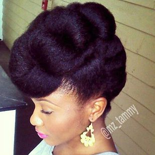 29 Awesome New Ways To Style Your Natural Hair Natural Hair Updo Hair Styles Curly Hair Styles