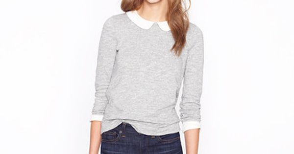 Cute - J. Crew Peter Pan collar tee