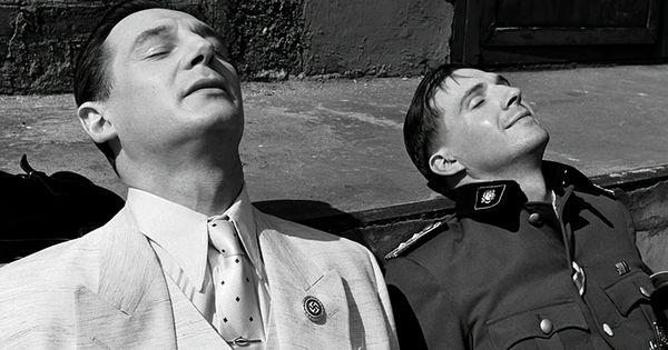 Liam Neeson as Oskar Schindler Ralph Fiennes as Amon Goeth ...