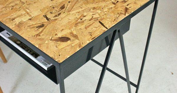 image of study blue steel desk with osb table top brussels townhouse pinterest desks and steel. Black Bedroom Furniture Sets. Home Design Ideas