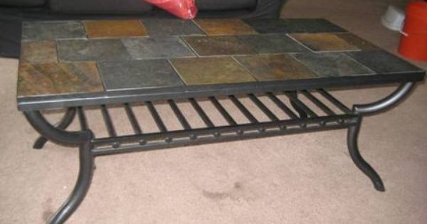 Perfect Slate Tile Coffee Table For Sale For 125 Tiled Coffee