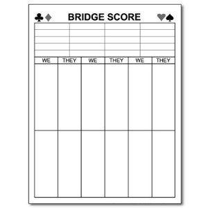 Printable Bridge Score Sheets Bridge Tally Cards Bridge Tally Bridge Card Game