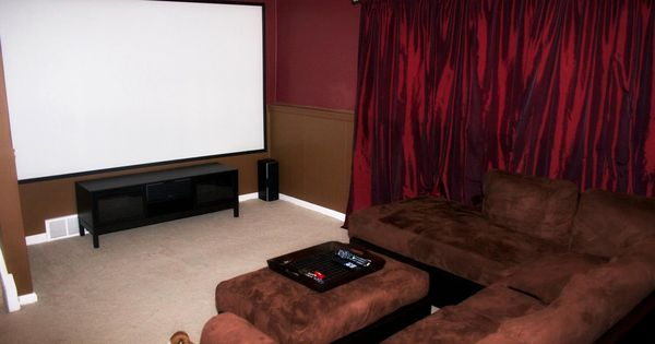 Our Home Theater With A 123 Screen Projector 7 1