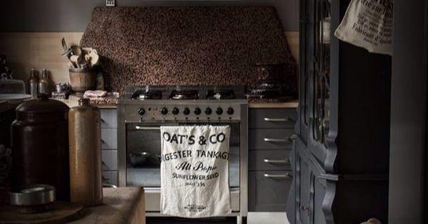 Stoer keuken pinterest keuken keukens en landelijk wonen - Keukenmeubelen rustiek ...