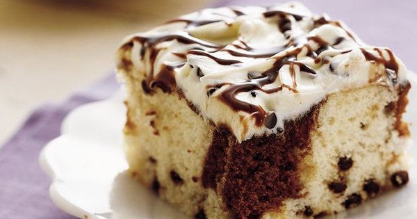 Chocolate Chip Swirl Cake recipe from Betty Crocker