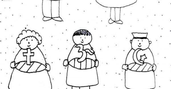 multicultural children coloring pages - photo#3