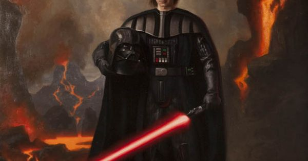 Portrait of Darth Vader by Steven J. Levin ......but his face wouldn't