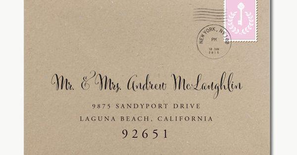 Envelope template printable addressing wedding