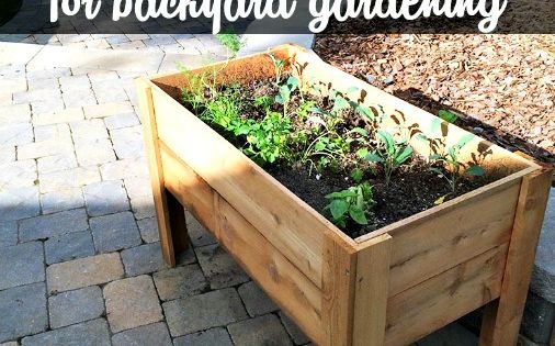 Diy Planter Box For Backyard Gardening Replay