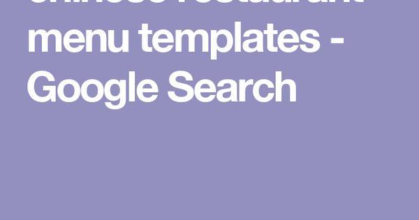 google menu templates