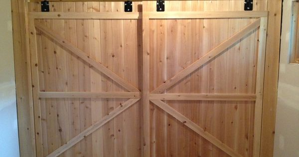 Sons Closet Cedar Barn Doors Ideas For Reno 39 S Pinterest Barn Doors Barn And Doors