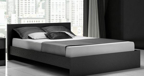 Modern Black Queen Platform Bed Frame Cool Designs Queen Beds Pinterest Queen Platform Bed