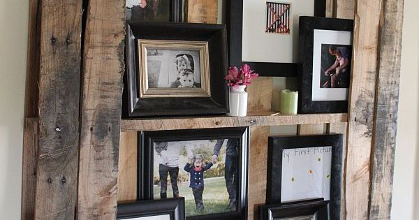 DIY Pallet Floating Shelving System