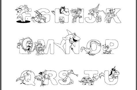 Animal Alphabet Coloring Sheet- I Love This Site Because