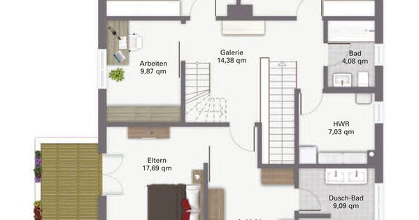 luxus fertighaus waldsee obergeschoss grundriss pinterest house. Black Bedroom Furniture Sets. Home Design Ideas