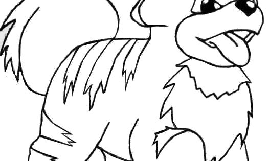 This is a photo of Invaluable Growlithe Coloring Page