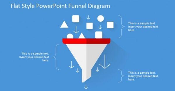 Flat Design Powerpoint Funnel Diagram Slidemodel Powerpoint Design Powerpoint Diagram Design