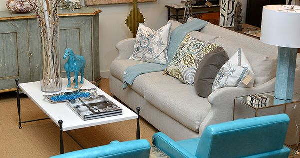 Sofa And Leather Arm Chair At Houston Mecox