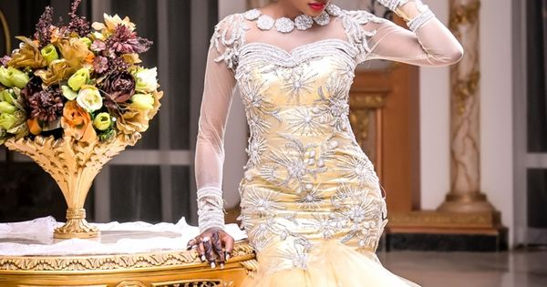 BellaNaija Bride, Amina, Stunning In A Gold Jewel