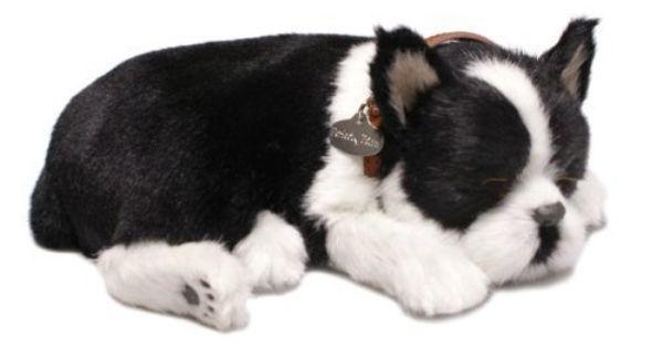Perfect Petzzz Huggable Breathing Boston Terrier Dog 35 30 Boston Terrier Toy Puppies Boston Terrier Dog