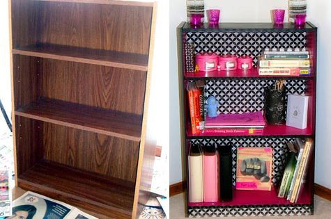 Love the bookshelf makeover! Ten Pin Linky: Classroom Decor