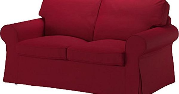 The Wine Red Cotton Ektorp Loveseat Cover Replacement Is Custom Made For Ikea Ektorp Loveseat Sofa Cover A Ektor Ikea Sofa Bed Cover Loveseat Covers Love Seat