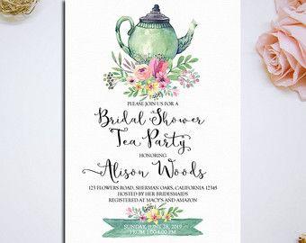Bridal Shower Tea Party Invitation Printable Bridal Tea Party Invitation Bri Bridal Tea Party Invitations Tea Party Bridal Shower Invitations Bridal Shower Tea