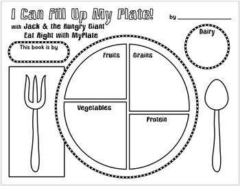 Myplate Book Activity Book Activities Word Puzzles For Kids Special Education Lesson Plans