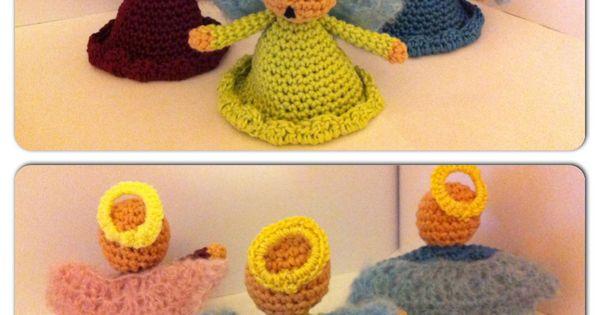 Anges de no l au crochet patron gratuit christmas angels free pattern in french crochet - Patron ange de noel ...