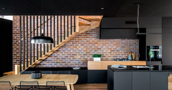 The Spatial Arrangement Of The Project Takes Queues Of The Functionality Of Sydney Terrace Houses Escaliers Modernes Moderne Escalier