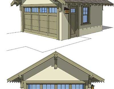 Arts crafts garage plans available from http www for Arts and crafts garage