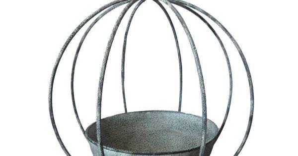 Vintage Shabby Chic Circular Metal Plant Stand Handmade by AllChic