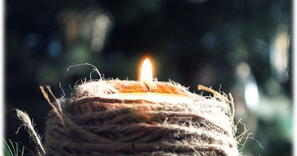 Candle & twine - please do NOT try this frightening combination -