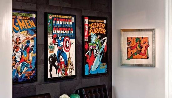 Home Design Ideas Book: Decorating Comic Book Colections And Displays Design #home