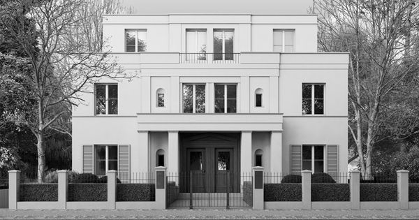 House by the German architects Kahlfeldt. Classical