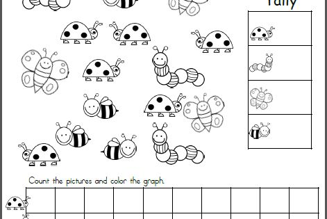 Insects Count Tally And Graph Worksheet Made By Teachers Graphing Kindergarten Kindergarten Math Worksheets Graphing Worksheets Free count and graph worksheets for