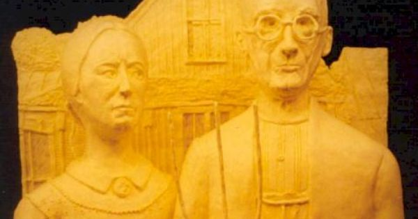 Women And Man Butter Sculptures With Images Art Parody Art