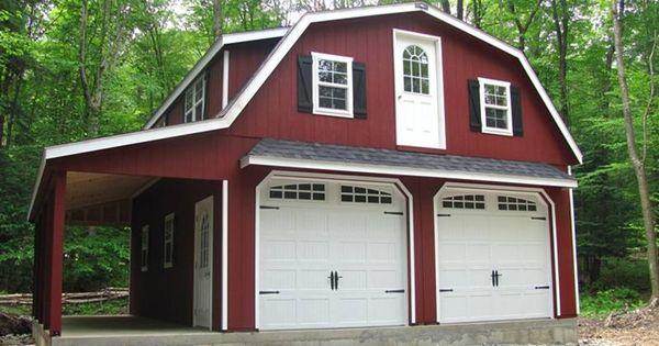 24 39 X 28 39 Raised Roof Gambrel Garage With 8 39 Overhang In